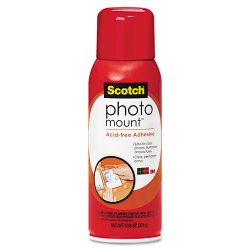 3M - 6094 - Scotch Photo Mount Spray Adhesive - 10.30 oz - Maps - Heat Resistant, Moisture Resistant - 1 Each - Clear