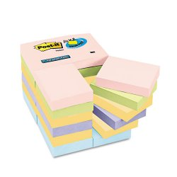 3M - 653-24APVAD - 3M Post-it Notes, Marseille Assorted Pastel Colors 1 3/8in x 1 7/8in, 100sht/pd, 24/pds/pk