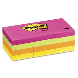 3M - 653AN - 3M Post-it Notes Capetown Colors, Pnk, Orng, Ylw, Blu, 1 3/8 in x 1 7/8 in, 100/shts pad, 12/pds/pk
