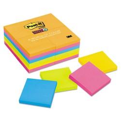 3M - 654-24SSAU - Pads in Rio de Janeiro Colors, 3 x 3, 90-Sheet, 24/Pack