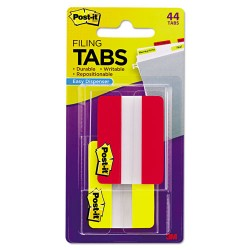 3M - 6862RY - File Tabs, 2 x 1 1/2, Solid, Red/Yellow, 44/Pack