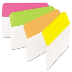3M - 686A-PLOY - Angled Tabs, 2 x 1 1/2, Solid, Assorted Brights, 24/Pack