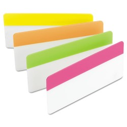 3M - 686-PLOY3IN - File Tabs, 3 x 1 1/2, Assorted Brights, 24/Pack