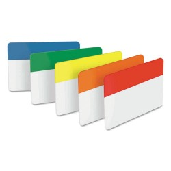 3M - 686-ROYGB - File Tabs, 2 x 1 1/2, Assorted Primary, 30/Pack
