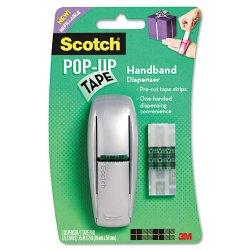 3M - 96-GS - Scotch Pop-up Tape Refillable Handband Dispenser - 0.75 Width x 2 Length - Dispenser Included - 1 Each - Matte Silver