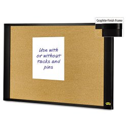 "3M - A4836G - Post-it Bulletin Board - 48"" Height x 36"" Width - Brown Cork Surface - Graphite Frame - 1 Each"