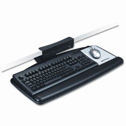 3M - AKT65LE - 3M Adjustable Keyboard Tray - 25.5 Width x 12 Depth - Black