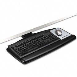 3M - AKT70LE - 3M Lever Adjust Keyboard Tray with Standard Keyboard and Mouse Platform - Black