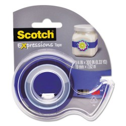 3M - C214BLU2D - Expressions Magic Tape w/Dispenser, 3/4 x 300, Dark Blue