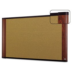 3M - C3624MY - 3M Standard Cork Bulletin Board - 36 Height x 24 Width - Warp Resistant - Mahogany Wood Frame - 1 Each