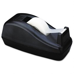 3M - C-40 - Deluxe Desktop Tape Dispenser, Attached 1 Core, Heavily Weighted, Black