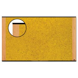 "3M - C7248LC - 3M Wide-screen Style Bulletin Board - 48"" Height x 72"" Width - Cherry Cork Surface - Light Cherry Wood Frame - 1 / Each"