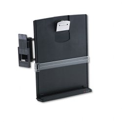 "3M - DH440MB - 3M Monitor Mount Document Holder - 11"" Height x 3"" Width x 12"" Depth - Gray"