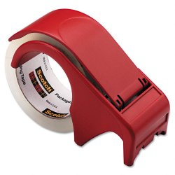3M - DP300-RD - Scotch Packaging Tape Hand Dispenser - Holds Total 1 Tape(s) - 3 Core - Refillable - Red
