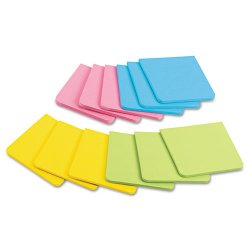 3M - F330-12SSAU - 3M Post-it Super Sicky Full Adhesive Notes Asst Bright Colors 3in x 3in 25/sht/pd 12/pd/pk