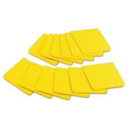 3M - F33012SSY - Full Adhesive Notes, 3 x 3, Electric Yellow, 25-Sheet, 12/Pack