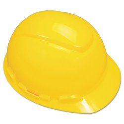 3M - H-702R - Hard Hat, 4 pt. Ratchet Suspension, Yellow, Hat Size: 6-5/8 to 7-3/4