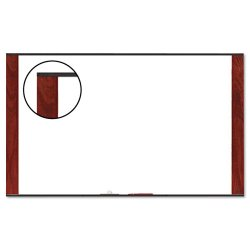 3M - M4836MY - 3M Wide Screen Style - Whiteboard - wall mountable - 48 in x 35.98 in - melamine - mahogany frame