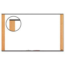 3M - M7248LC - 3M Wide Screen Style - Whiteboard - wall mountable - 72 in x 48 in - melamine - light cherry frame