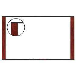 3M - M7248MY - 3M Wide Screen Style - Whiteboard - wall mountable - 72 in x 48 in - melamine - mahogany frame