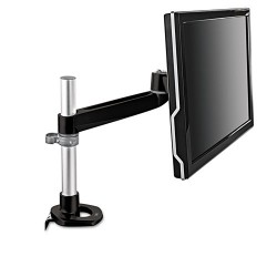 3M - MA120MB - 3M Mounting Arm for Flat Panel Display - 30 lb Load Capacity - Black, Gray