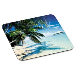 "3M - MP114YL - 3M Tropical Beach Mouse Pad - 0.1"" x 9"" x 8"" Dimension - Aqua"