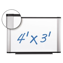 3M - P4836A - Dry Erase Board Porcelain 48x36 Aluminum Frame Magnetic