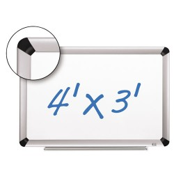 3M - P4836FA - Dry Erase Board Porcelain Full Alum Frame Magnetic 48inx36in