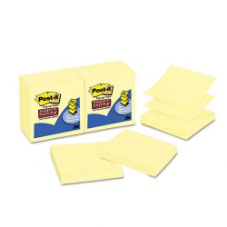 3M - 330-12SSCY - 3M Post-it Super Sticky Pop-up Notes, Yellow, 3 in x 3 in, 90sht/pd, 12/pads/pk
