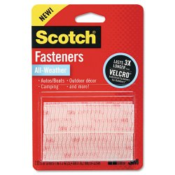 "3M - RFD7090 - Scotch All-Weather Fasteners - 1"" Width x 3"" Length - 2 / Pack - Clear"