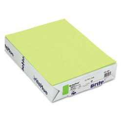 Mohawk Fine Papers - 101261 - Mohawk Brite-Hue Colored Paper - Letter - 8 1/2 x 11 - 20 lb Basis Weight - Smooth - 500 / Ream - Ultra Lime