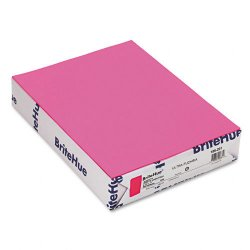 Mohawk Fine Papers - 185201 - Mohawk Brite-Hue Colored Paper - Letter - 8 1/2 x 11 - 20 lb Basis Weight - Smooth - 500 / Ream - Ultra Fuchsia
