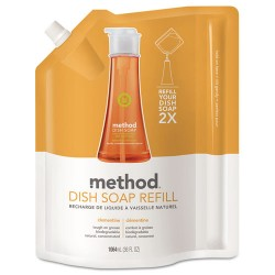 Method - 01165 - Method Clementine Scent Dish Soap Refill - Liquid - 0.28 gal (36 fl oz) - Clementine Scent - 1 Each - Orange