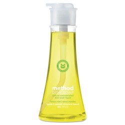 Method - 01179 - Method Lemon Mint Dish Soap - 0.14 gal (18 fl oz) - Lemon Scent - 1 Each - Light Yellow
