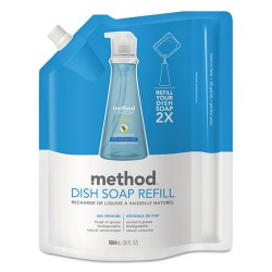 Method - 01315 - Method Sea Minerals Dish Soap Refill - Liquid - 0.28 gal (36 fl oz) - Sea Mineral Scent - 1 Each - Light Blue