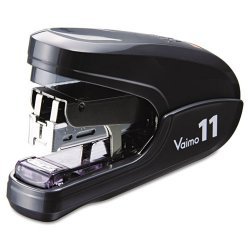 Max USA - HD11FLK BLACK - Flat Clinch Light Effort Stapler, 35-Sheet Capacity, Black