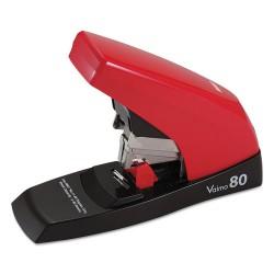 Max USA - HD11UFL - Vaimo 80 Heavy-Duty Flat-Clinch Stapler, 80-Sheet Capacity, Red/Brown
