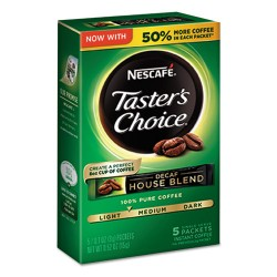 Coffee-mate - 86073 - Taster's Choice Decaf House Blend Instant Coffee, 0.1oz Stick, 5/Box, 12 Bx/Ctn
