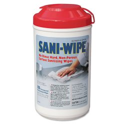 Nice-Pak - Q94384 - Nice-Pak Sani-Wipe No Rinse Sanitizing Wipes