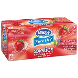 Nestle - 12252792 - Pure Life Exotics Sparkling Water, Strawberry Dragonfruit, 12oz Can, 24/Carton