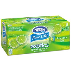 Nestle - 12252793 - Pure Life Exotics Sparkling Water, Key Lime, 12 oz Can, 24/Carton