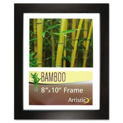 "Glolite Nudell - 14181 - Glolite Nu-dell Earth Friendly Bamboo Frames - 8"" x 10"" Frame Size - Rectangle - Desktop, Counter, Shelf - Landscape, Portrait - Satin - Eco-friendly, Unbreakable, Dust Resistant, Sturdy - Bamboo, Plastic - Black, Clear"
