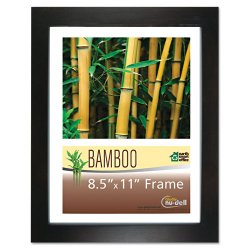 "Glolite Nudell - 14185 - Glolite Nu-dell Earth Friendly Bamboo Frames - 8.50"" x 11"" Frame Size - Rectangle - Desktop, Counter, Shelf - Landscape, Portrait - Satin - Eco-friendly, Unbreakable, Dust Resistant, Sturdy - Bamboo, Plastic - Black, Clear"