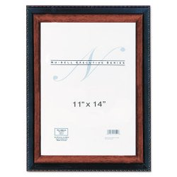 Glolite Nudell - 17403 - Executive Document Frame, Plastic, 11 x 14, Black/Mahogany