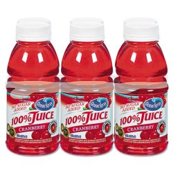 Ocean Spray - 00066 - 100% Juice, Cranberry, 10oz Bottle, 6/Pack