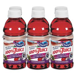 Ocean Spray - 00072 - 100% Juice, Cranberry Grape, 10oz Bottle, 6/Pack