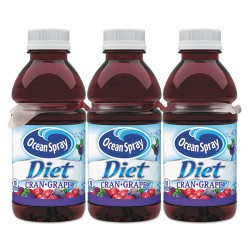 Ocean Spray - 00158 - Diet Cranberry Juice Drink, Cranberry Grape, 10 oz Bottle, 6/Pack