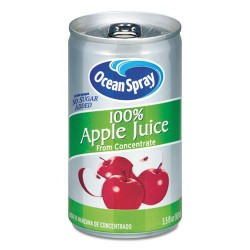 Ocean Spray - 20452 - 100% Juice, Apple, 5.5 oz Can