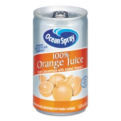 Ocean Spray - 20453 - 100% Juice, Orange, 5.5 oz Can