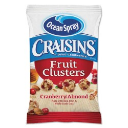 Ocean Spray - 22464 - Craisins Fruit Clusters, Cranberry Almond, 1.413 oz, 10/Box